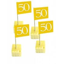 Vlagprikkers 50 jaar goud 50 stuks (C7-2-4)