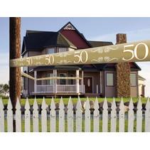 Afzetlint 50 Jaar  Goud 15 meter