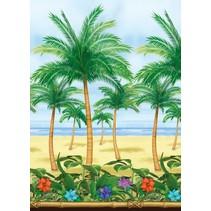 Hawaii Wanddecoratie Strand Palmboom 12,2 meter (A13-3-2)