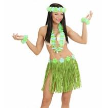 Hawaii Rokje Set Groen 5 delig