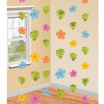 Hawaii Hangdecoratie Bloemen 2,1 meter 6 stuks