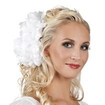 Haarbloem Wit 20cm (A9-3-3)