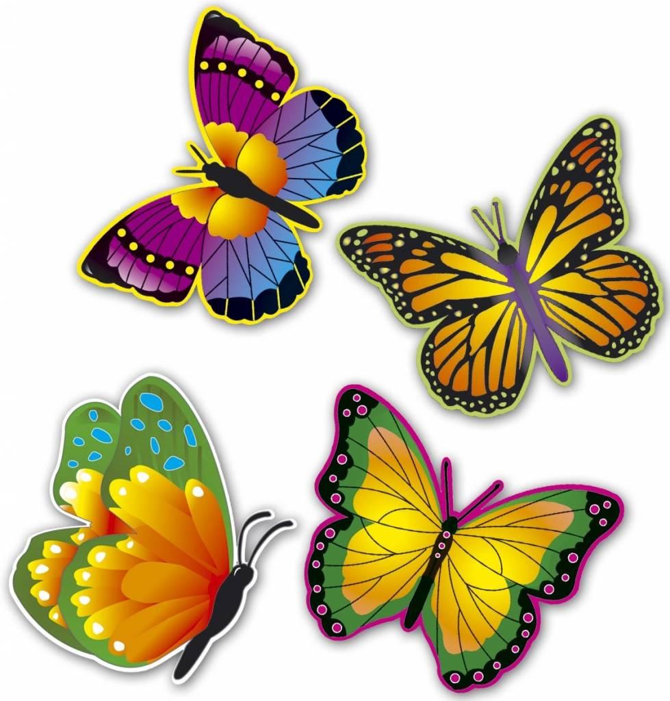 hawaii wanddecoratie vlinders 32cm 4 stuks kopen prohapcom