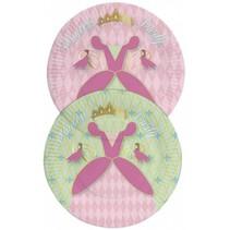 Prinsessen Borden 23cm Party 8 stuks (E1-6-1)