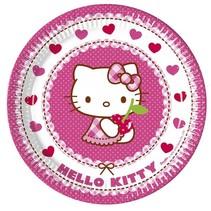 Hello Kitty Gebaksbordjes 20cm 8 stuks (E6-4-1)