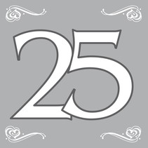 Servetten 25 Zilver 20 stuks (D8-6-7)
