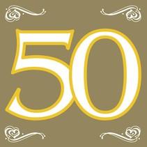 Servetten 50 Goud 20 stuks (C7-4-8)