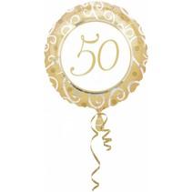 Helium Ballon 50 Jaar Goud 43cm leeg