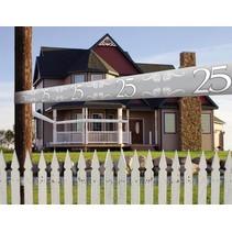 Afzetlint 25 Jaar Zilver 15 meter (D8-7-2)