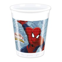 Spiderman Bekers 200ml 8 stuks