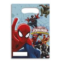 Spiderman Uitdeelzakjes 6 stuks