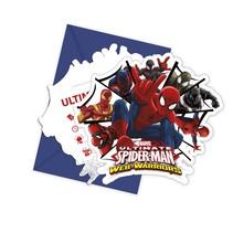 Spiderman Uitnodigingen 6 stuks