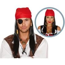 Piraten Pruik met Bandana (K13-7-4)