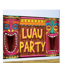 Hawaii Wanddecoartie Luau Party 1,2 meter (A13-4-4)
