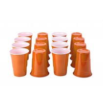 Orange Cups 473ml 25 stuks