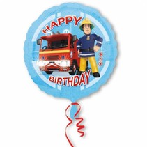 Fireman Sam Helium Ballon Happy Birthday 43cm leeg of gevuld