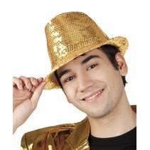 Glitter Hoed Goud