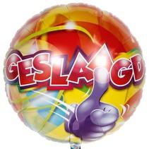 Geslaagd Helium Ballon 43cm leeg of gevuld