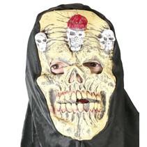 Halloween Masker Schedel met capuchon volledig
