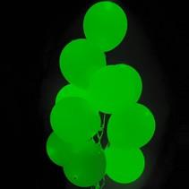 Donkergroene Led Ballonnen met schakelaar 30cm 4 stuks