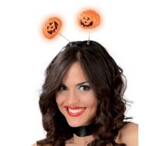 Halloween Haarband Pompoenen met licht