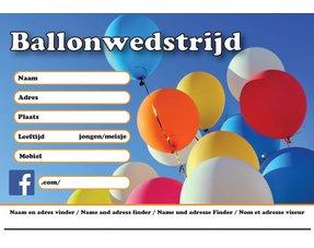 Ballonkaartjes