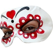 Mexicaans Masker Dia de los Muertos Deluxe half