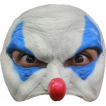 Halloween Masker Clown Blauw Deluxe half