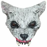 Halloween Masker Wolf Deluxe - half