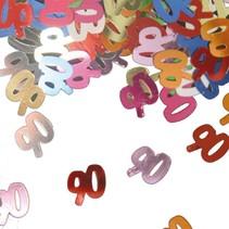 Tafelconfetti 90 Jaar 1cm 600 stuks (D1-1-2)