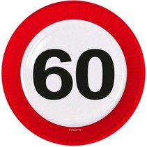 Borden 60 Jaar Verkeersbord 8 stuks