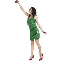 Kerstvrouw Jurkje Glitters Kerstboom medium