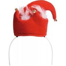Kerst Diadeem Kerstmuts met belletjes