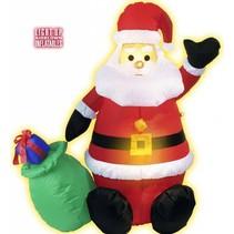 Opblaasbare Kerstman met kerstzak 1,2 meter