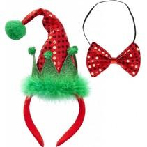 Kerst Diadeem Elf en Strikje