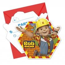 Bob de Bouwer Uitnodigingen 6 stuks (F8-8-1)