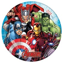 Avengers Gebaksbordjes Mighty 20cm 8 stuks