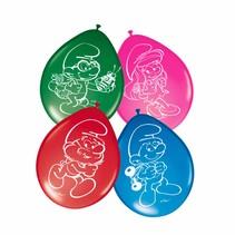Smurfen Ballonnen 30cm 8 stuks (F7-3-5)