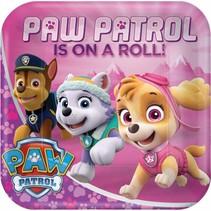 Paw Patrol Gebaksbordjes Roze 18cm 8 stuks (F7-8-2)