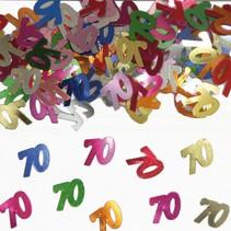 Tafelconfetti 70 Jaar 1cm 600 stuks (D3-5-3)