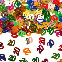 Tafelconfetti 20 Jaar 1cm 600 stuks (D9-3-3)