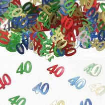 Tafelconfetti 40 Jaar 1cm 600 stuks (D6-5-5)