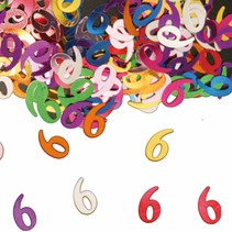 Tafelconfetti 6 Jaar 1cm 600 stuks