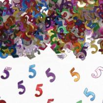 Tafelconfetti 5 Jaar 1cm 600 stuks (D16-7-5)