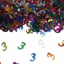 Tafelconfetti 3 Jaar 1cm 600 stuks