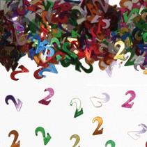 Tafelconfetti 2 Jaar 1cm 600 stuks (D18-8-7)