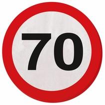Servetten 70 Jaar Verkeersbord 20 stuks (D3-7-3)