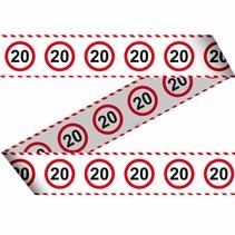 Afzetlint 20 Jaar Verkeersbord 15 meter (D9-5-5)