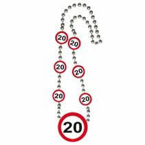 Ketting 20 Jaar Verkeersbord