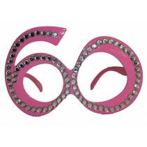 Bril 60 Jaar Roze (D4-6-5)